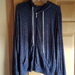 Hooded light weight sweatshirt
